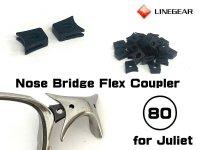 ジュリエット ノーズブリッジ用 連結ラバーパーツ ブラック 硬度80
