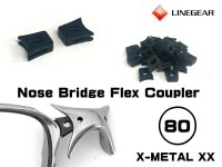 X-METAL XX ノーズブリッジ用 連結ラバーパーツ ブラック 硬度80