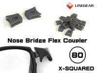 X-SQUARED ノーズブリッジ用 連結ラバーパーツ ダークグレー 硬度80