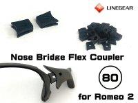 ロメオ2 ノーズブリッジ用 連結ラバーパーツ ブラック 硬度80